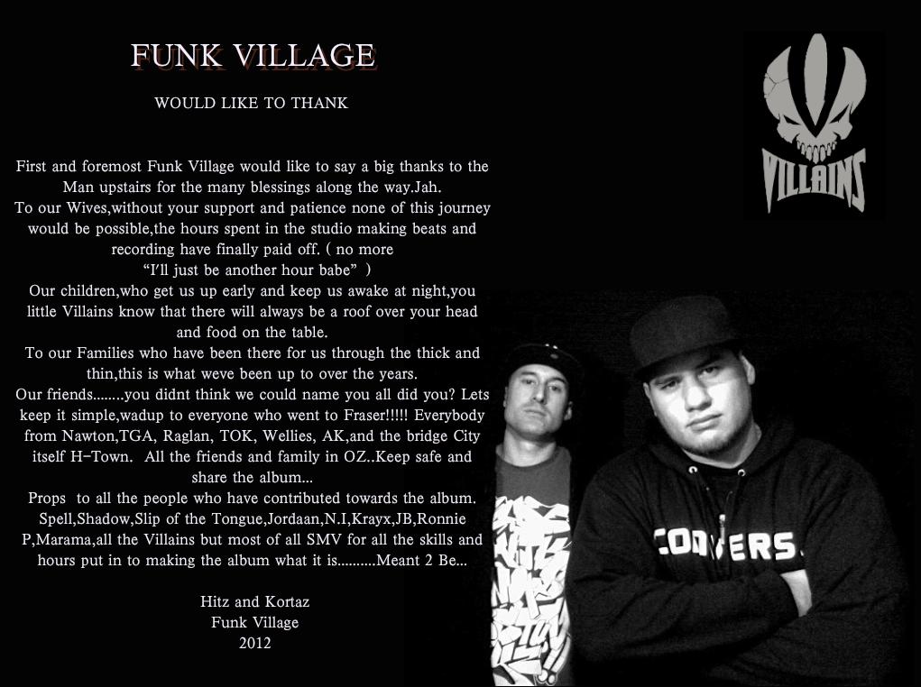 Funk Village Meant 2 Be (Album) | VILLAINSfunk village