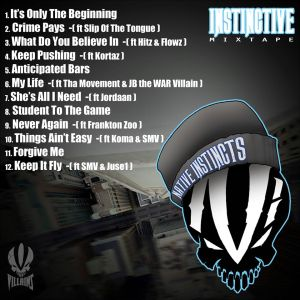 N.I - Instinctive (Mixtape) Back Cover